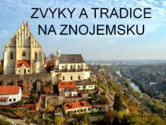 Tereza Marková - Zvyky atradice naZnojemsku